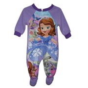 Disney Princess Sofia The First Girls Footed Sleeper Blanket Pajama Size 5T 434736a3a