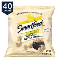 Smartfood Sweet & Salty Kettle Corn Popcorn Snack Pack, 0.5 oz Bags, 40 Count