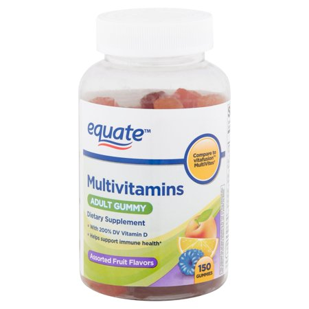 Equate Multivitamins Assorted Fruit Flavors Adult Gummies, 150 (Best Brain Vitamins For Adults)