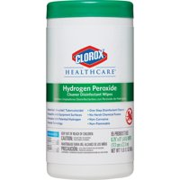 Clorox, CLO30824, Healthcare Hydrogen Peroxide Disinfecting Wipes, 95 / Each, White