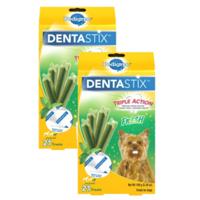 (2 Pack) PEDIGREE DENTASTIX Toy/Small Dental Dog Treats Fresh - 5.26 oz. Pack (21 Treats)