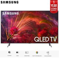 """Samsung 75"""" Q8FN QLED Smart 4K UHD TV 2018 Model (QN75Q8FNBFXZA) with 1 Year Extended Warranty"""