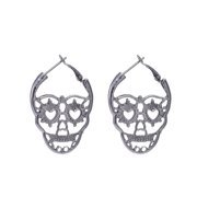 0f0a0db91 New Steampunk Silver Color Skull Stud Earrings Vintage Retro Hollow  Skeleton Piercing Ear Gothic Punk Jewelry
