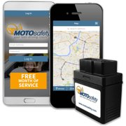MOTOsafety GPS Car Tracking Locator for Real-Time Teen Driving Coach with Month of Service, OBD Version, No Contracts