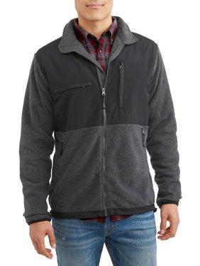 Burnside Men's Polar Fleece Zip Front Jacket, Up to Size 2XL