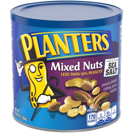 Planters Mixed Nuts, Lightly Salted, 56.0 oz Canister