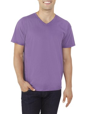 Fruit of the Loom Men's Platinum Eversoft Short Sleeve V Neck T Shirt, up to Size 4XL