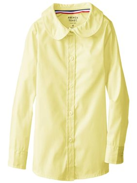 French Toast Girls 2T-4T Long-Sleeve Peter Pan Blouse Yellow 3T