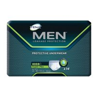 Tena for Men, Super Plus Underwear, EXTRA LARGE, XL, 81920 - Case of 56