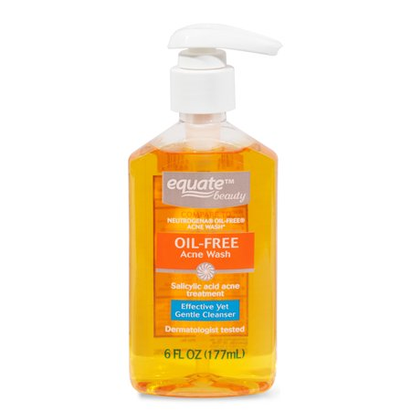 Oil Free Ship - Equate Beauty Oil-Free Acne Wash, 6 fl oz