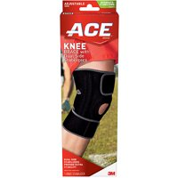 ACE Knee Brace with Dual Side Stabilizers, Adjustable, Black/Gray