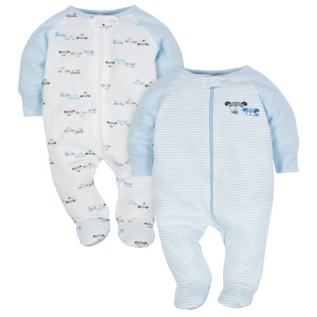 Wonder Nation Zip Up Sleep N Play Sleeper, 2pk (Baby (Yoga Baby Clothes)