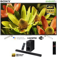 """Sony 60"""" Class 4K Ultra HD (2160P) HDR Android Smart LED TV (XBR60X830F) with Sony HTX9000F 2.1ch Soundbar with Dolby Atmos"""