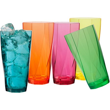 Creativeware Creative Bath Twist 24-Ounce Assorted Tumblers, Set of (Drinkware)