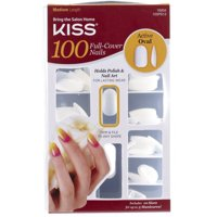 KISS 100 Full Cover Nails, Active Oval