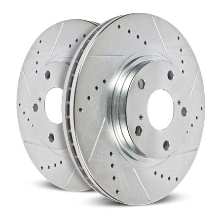 Power Stop AR83067XPR Evolution Drilled & Slotted Rotors -Rear