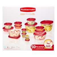 Rubbermaid Easy Find Lids Food Storage Set, 50 Ct