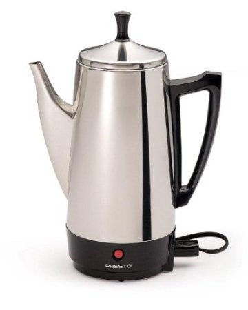 Manual Stainless Steel Coffee Maker - Presto 12-Cup Stainless Steel Coffee Maker