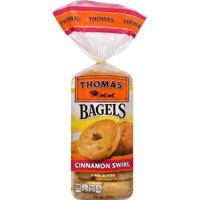 Thomas' Cinnamon Swirl Soft & Chewy Pre-Sliced Bagels, 6 count, 20 oz