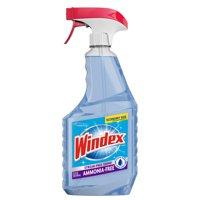 (2 pack) Windex Ammonia-Free Glass Cleaner Trigger Bottle, Crystal Rain, 32 fl oz