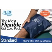 """FlexiKold Gel Ice Pack (Standard Large: 10.5"""" x 14.5"""") - One (1) Reusable Cold Therapy Pack (For pain and injuries, wrap around Knee, Shoulder, Foot, Back, Ankle, Neck, Hip, Wrist) - 6300-COLD"""