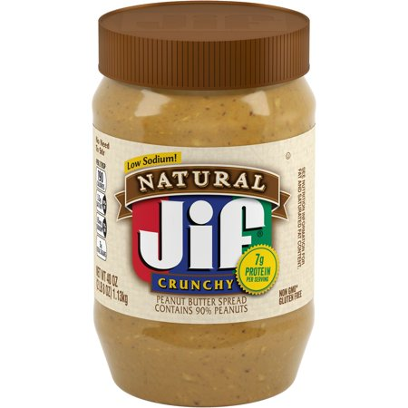 Jif Natural Crunchy Peanut Butter Spread,