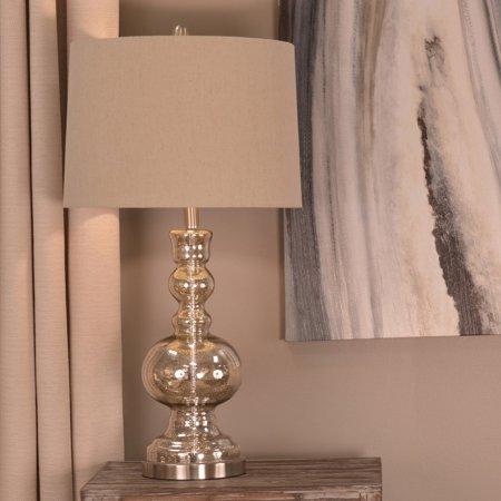 Decor Therapy Silver Mercury Glass Table Lamp Walmart Com