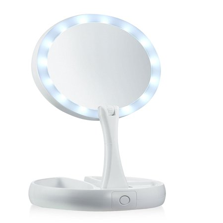 My Foldaway Mirror The Lighted Double Sided Vanity Mirror