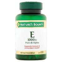 Nature's Bounty Vitamin E Pure dl-Alpha, 1000 IU Softgels, 60ct