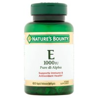 Nature's Bounty Vitamin E Pure dl-Alpha, 1000 IU Softgels, 60ct