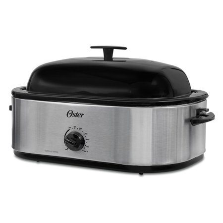 Oster 18 Quart Roaster Oven With High Dome Lid Stainless Steel