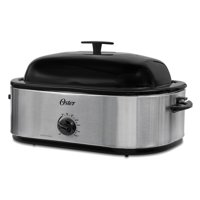 Oster 18-Quart Roaster Oven with High Dome Lid, Stainless Steel
