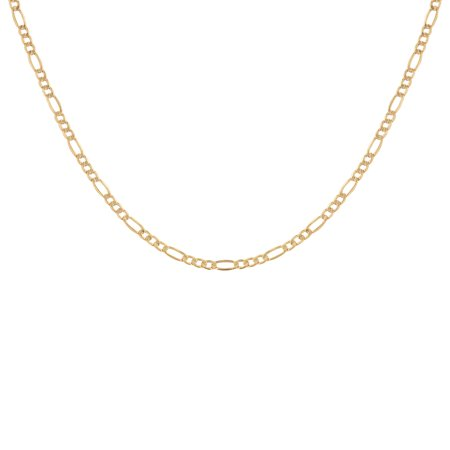 10KT Yellow Gold 4MM Figaro Chain, 22