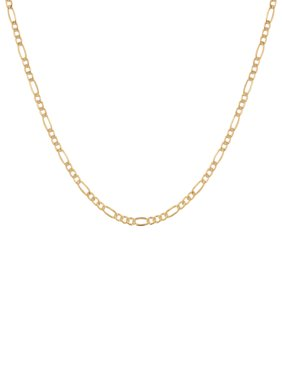 """Simply Gold 10KT Yellow Gold 4MM Figaro Chain, 22"""" Necklace"""