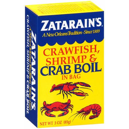 (4 pack) Zatarain's Crawfish, Shrimp & Crab Boil, 3 oz