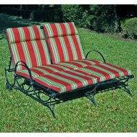 Blazing Needles 48 x 72 in. Outdoor Double Chaise Lounge Cushion - Set of 2