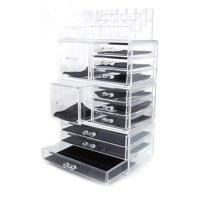 Ktaxon Acrylic Cosmetic Tower Organizer Makeup Holder Case Box Jewelry Storage Drawer,4 Piece Set