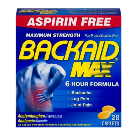 Backaid Max Maximum Strength Pain Relief Caplets, 28