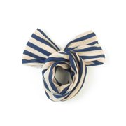 c59014dbae5 Unique Bargains Ladies Fabric Wrapped Metal Wire Inside Hair Decoration  Headband Dark Blue Beige