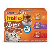 Friskies Gravy Sensations Poultry Favorites Adult Wet Cat Food Variety Pack - (12) 3 oz. Pouches