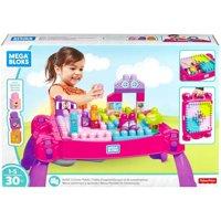 Mega Bloks Big Builders Build 'N Learn Table (Pink)