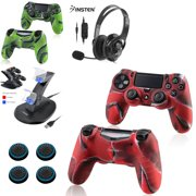3d4fd5e88a5 Insten Playstation 4 Dual Controller Charging Station Dock Stand for PS4 +  Gaming Headset with Mic