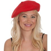 d9e668d83844f New Men s Women s Red Wool Beret Hat Cap Costume Accessory