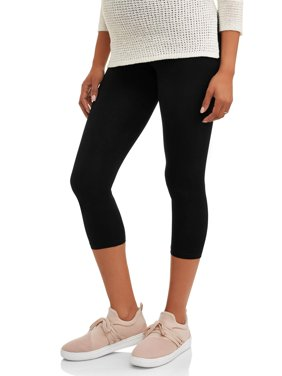 Maternity Full-Panel Capri Leggings-- Available in Plus Size