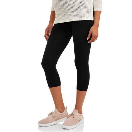 Maternity Full-Panel Capri Leggings-- Available in Plus Size