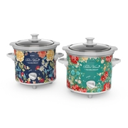 Pioneer Woman 1.5 Quart Slow Cooker (Set of 2) Fiona Floral/Vintage Floral | Model# 33016 by Hamilton Beach