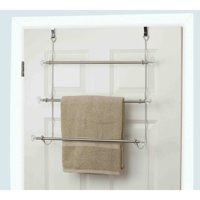 Home Basics 3-Tier Chrome-Plated Steel Over the Door Towel Rack