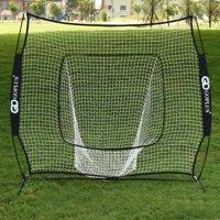 Costway 7x7' Baseball & Softball Practice Hitting/Batting Training Net with Bow Frame, Black Bag