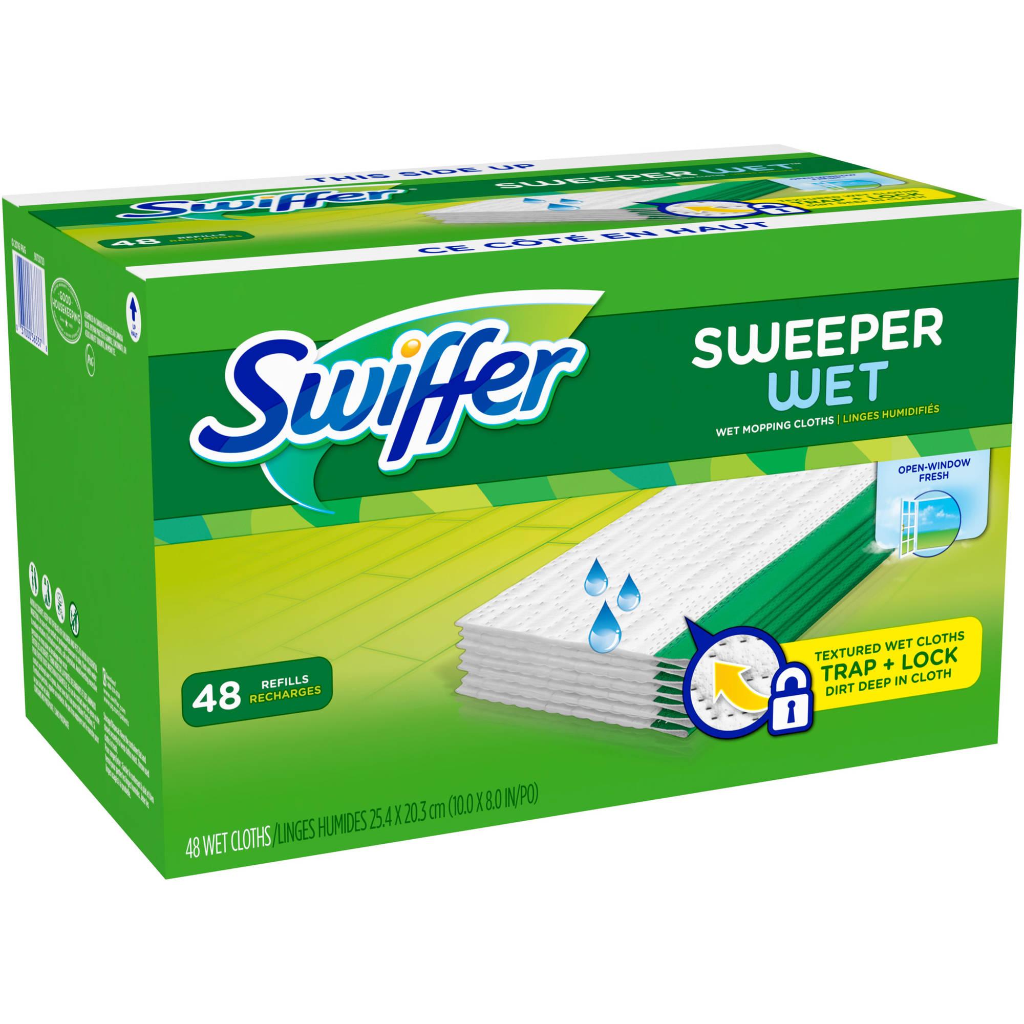 Swiffer 48 Pcs Sweeper Wet Mopping Cloths Refills Mop