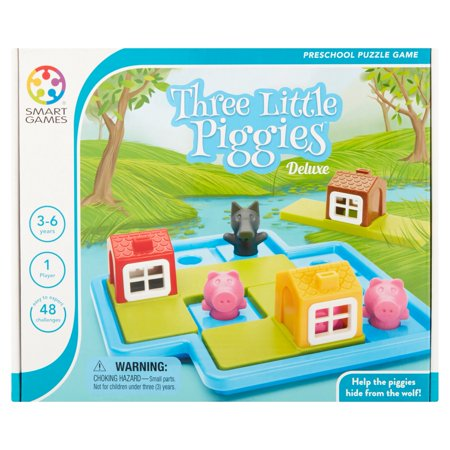 Smart Games Three Little Piggies Deluxe Preschool Puzzle Game 3-6 Years](Easy Preschool Games)
